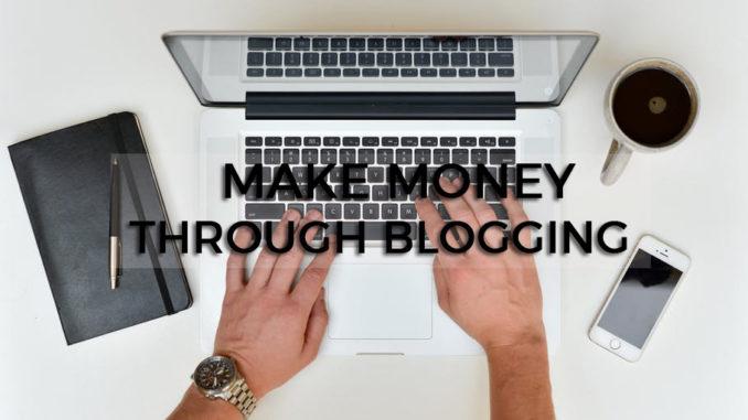 make money through blogging cover