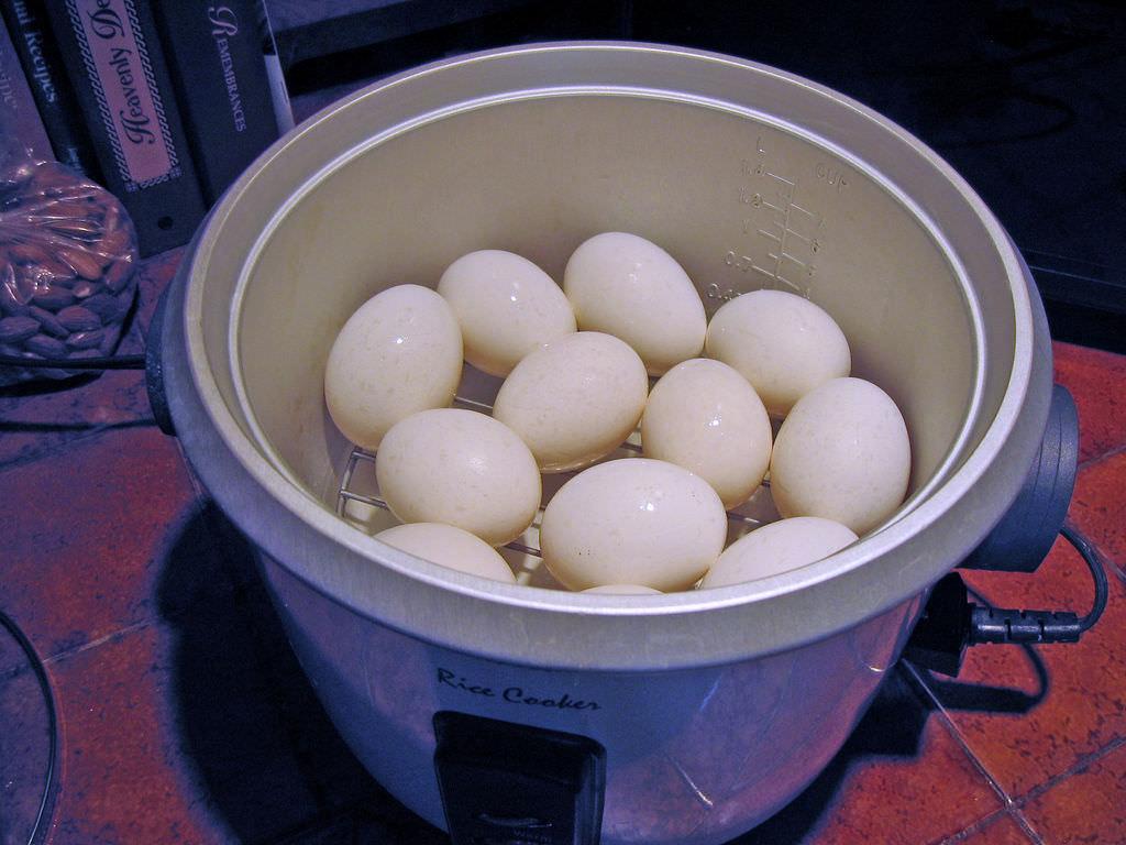 Appliances eggs in basket