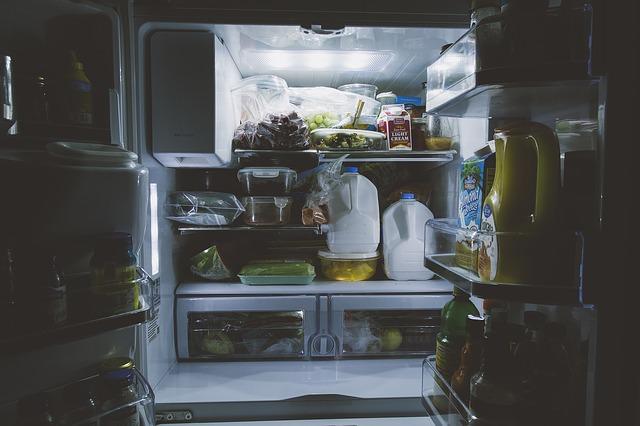 Appliances in fridge