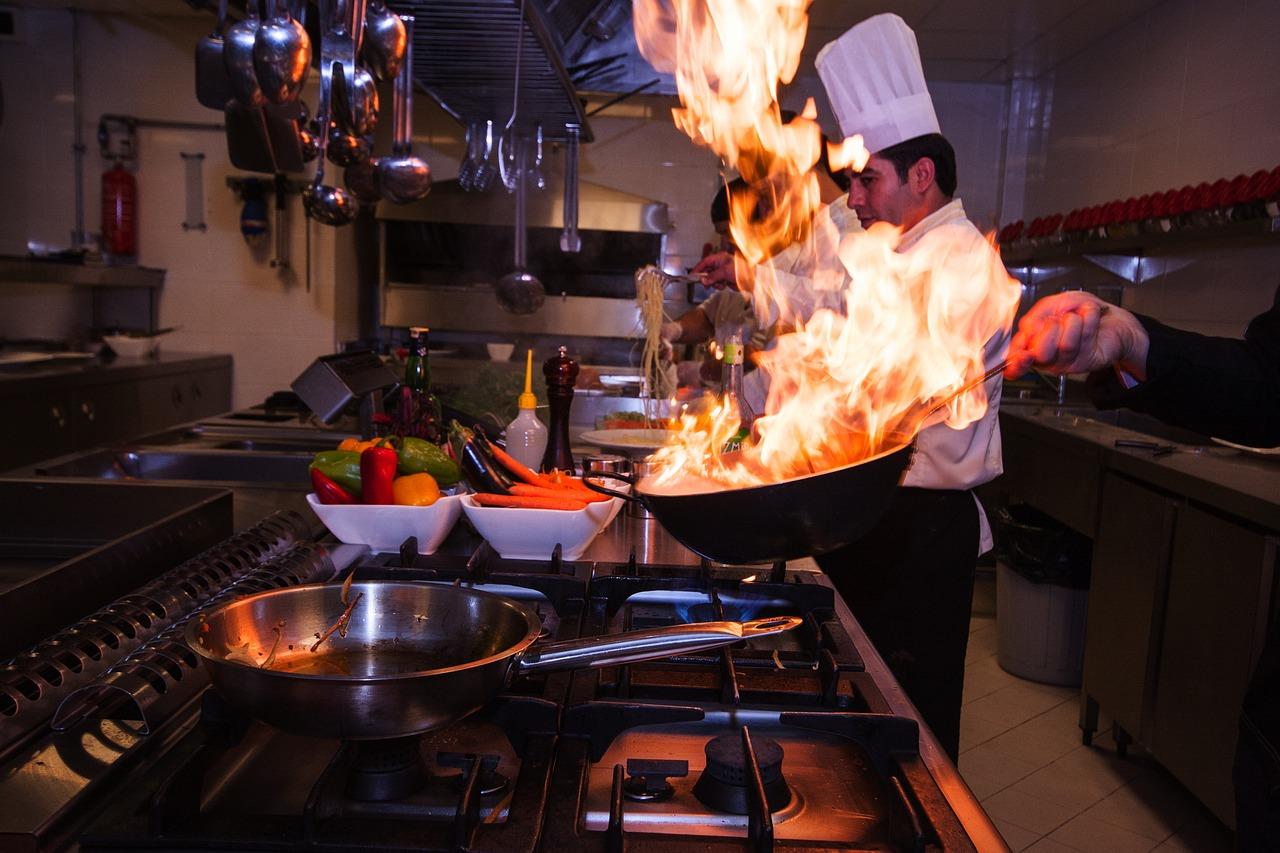 Appliances japanese man cooking