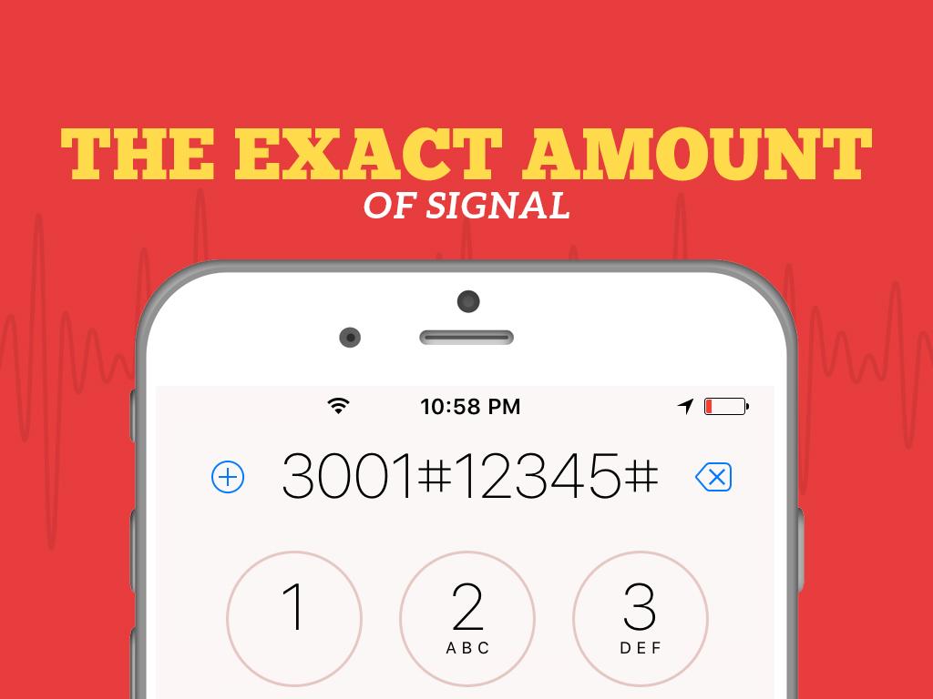 Secret Codes exact amount of signal