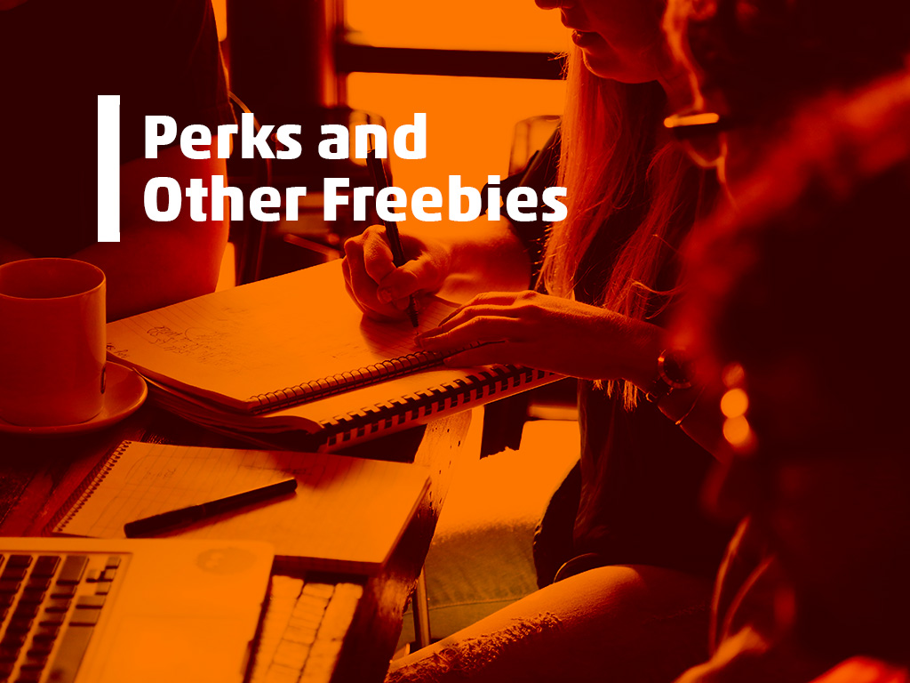 perks and other freebies