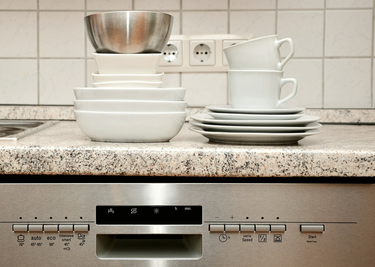 Appliances dinnerware stacked