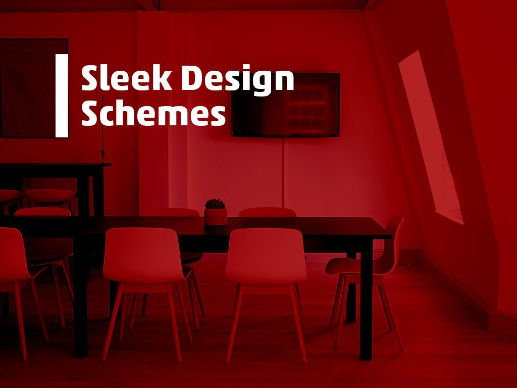 sleek design schemes