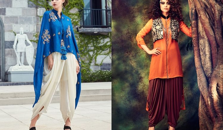 1. Dhoti Style Salwar Kameez